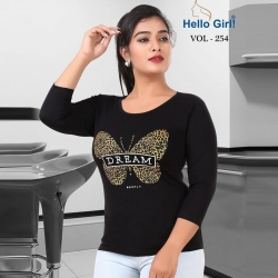 Littledesire Butterfly Print Cotton Women T-Shirt