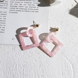 Littledesire Vintage Square Acrylic Earrings