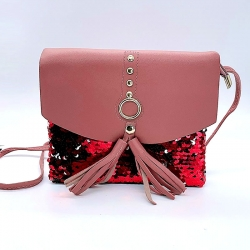 Littledesire Sequins Glitter Crossbody Sling Bag 7 inch