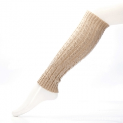 Soft Winter Leg Warmers Knitted Crochet Long Boot Socks