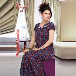 Striped Printed Women's Sarina Nighty