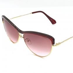Littledesire Designer Vintage Metal Oval Sunglasses
