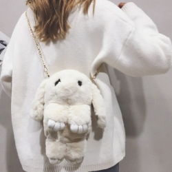 Cute Cartoon Rabbit Fluffy Bunny Crossbody Chain Bag