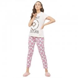 Donuts Printed Top & Pajama Cotton Night Suit