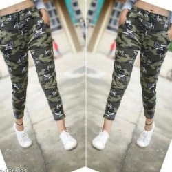 Army Printed Regular Cargos for Girls