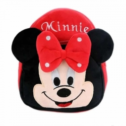 Cute Cartoon Soft Plush Minnie Red Girl Backpacks