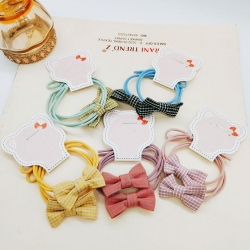 Stripes Print Bow Hair Rubber Band Pack of 5