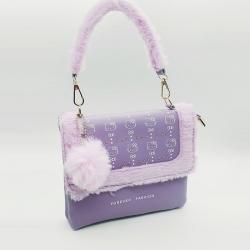 Soft Fluffy Handbag & Crossbody Sling Bag for Girls