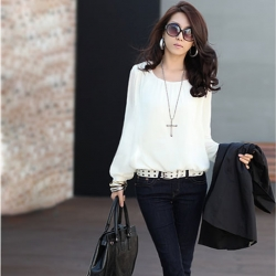 Long Sleeve Chiffon Tops