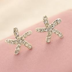 Gold Starfish Earring