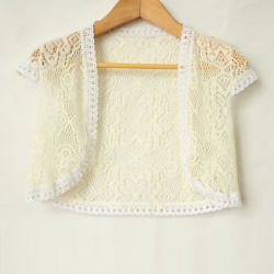 Summer Lace Top Cum Shrug