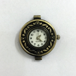 Antiqued Bronze Round Watch