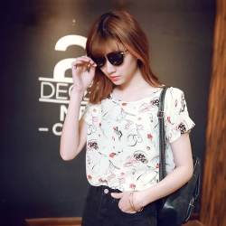 Short Sleeve Print  Summer Top