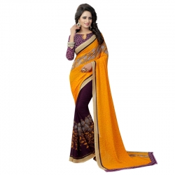 Littledesire Georgette Printed Saree with Blouse