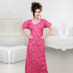 Littledesire Women Cotton Printed Nighty