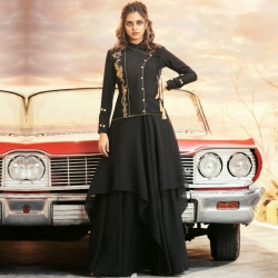 Littledesire Latest Design Embroidered Gown