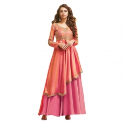 Littledesire Latest Design Embroidered Silk Gown