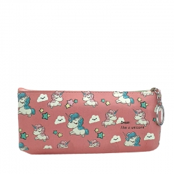 Printed Unicorn waterproof Pencil Box With Key Ring