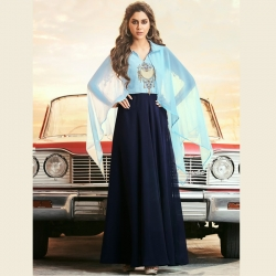 Littledesire Embroidered Stylish Kaftaan Sleeves Gown