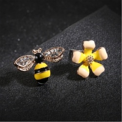 Littledesire Butterfly Imitation Flower Stud Earrings