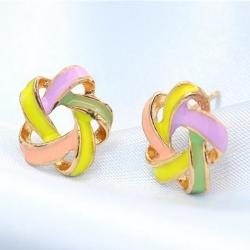 Littledesire Windmill Flower Stud Earrings