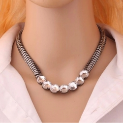 Littledesire Luxury Crystal Coarse chain Light Weight Necklace