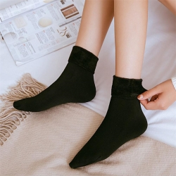 Littledesire Thermal Soft Faux Fur Women Winter Warm Socks