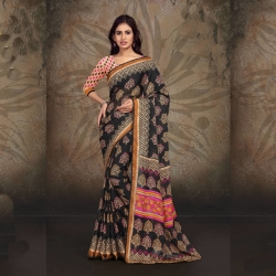 Littledesire Printed Dyna Silk Saree
