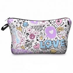 Littledesire Cute Makeup Cosmetic Zipper Bag