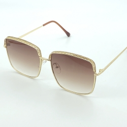 Metal Frame With Glitter Sunglasses