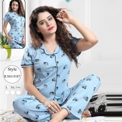 Cute Top & Pajama Set Sleepwear for Girls