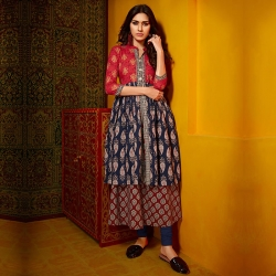 Littledesire Latest Printed A-Line Cotton Kurta