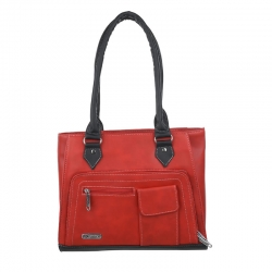 Red PU Leather Fashion Latest Stylish Women Handbags