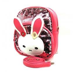 Cute Cartoon Travel Sequins Glitter Shoulder Backpack
