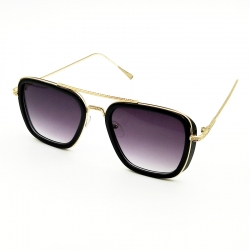 Vintage Style Metal Frame Square Men Sunglasses
