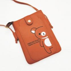 PU Leather Mobile Phone Shoulder Bag
