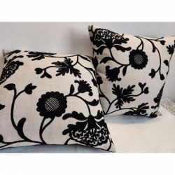 Cotton Embroidered Cushion Covers 16 x 16 inch Pack of 2