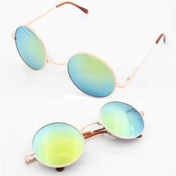 Round Metal Frame Gradient Lens sunglasses