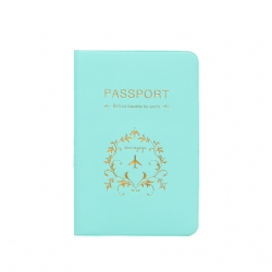 Sea Green PU Leather Passport Cover