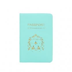 Sea Green PU Leather Passport Cover