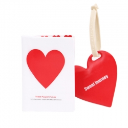 Passport ID Card Cover Holder (Love Styles Silicone Strap Tag)