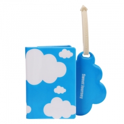 Cloud Style Passport Cover & Luggage Tag Combo