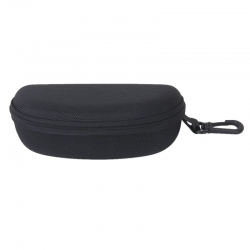 Black Zipper Sunglasses Case Cover Matt Finish