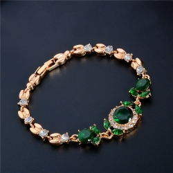 Littledesire CZ Stone gold Color Austrian Crystal Flower Bracelets