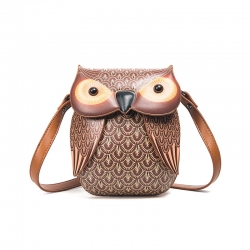 Littledesire Owl Pattern Cross Body Bag