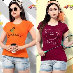 Littledesire Orange & Maroon Cotton T-Shirt Pack of 2