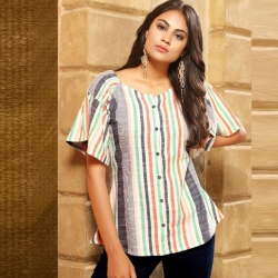 Littledesire Printed Short Sleeves Short Kurti Top