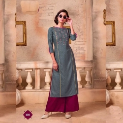Littledesire Embroidered Work Kurta With Palazzo