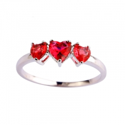 Littledesire Heart Cut AAA CZ Silver Ring