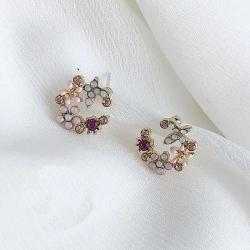 Littledesire Latest Flower Design Stud Earrings